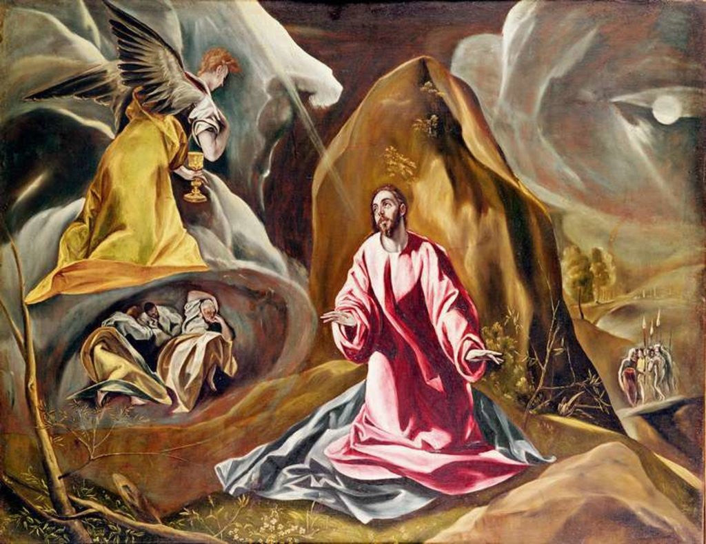 detail of agony in the garden of gethsemane c1590s by el greco - Agony In The Garden