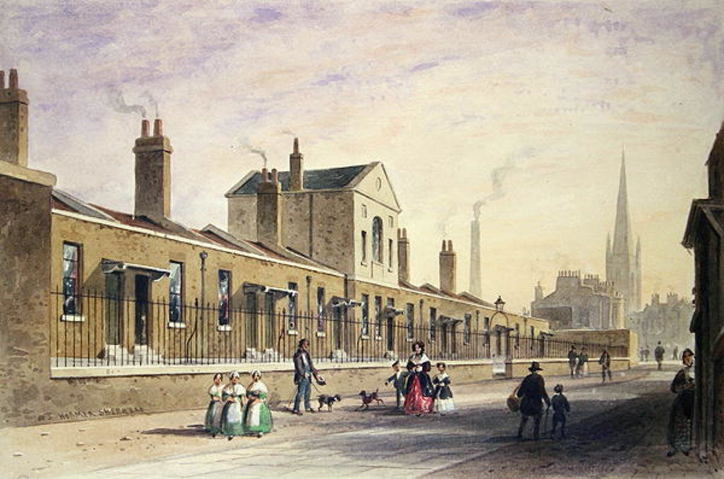 Palmer's Alms Houses, Tothill Fields by Thomas Hosmer Shepherd