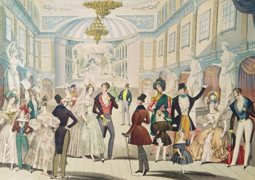 Detail of Summer Fashions for 1836 by English School