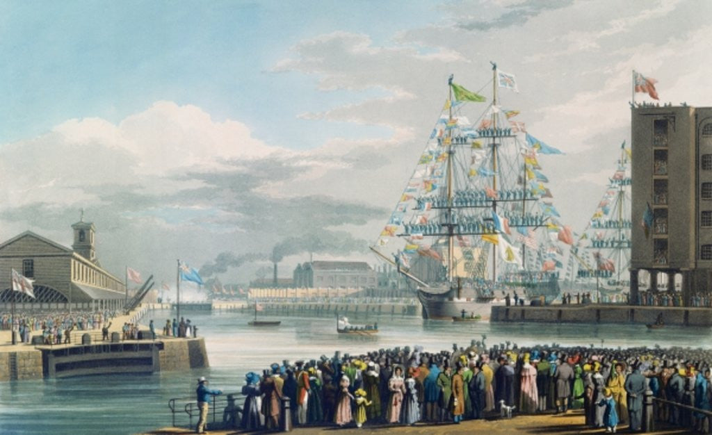 Detail of The Opening of St. Katharine Docks, Saturday the 25th October 1828 by Edward Duncan