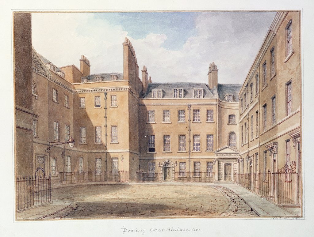 Detail of View of Downing Street, Westminster by John Buckler