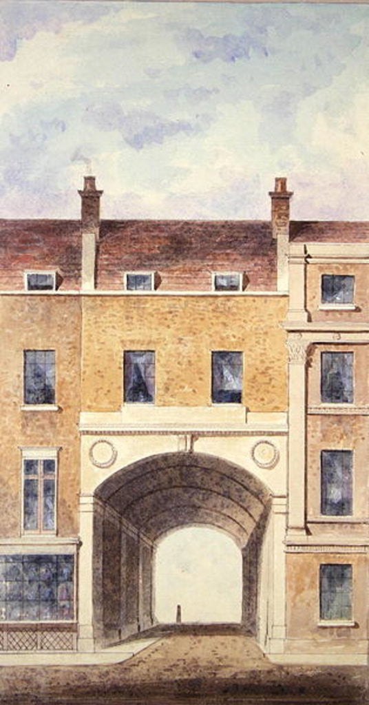 Detail of The Improved Entrance to Scotland Yard by T. Chawner