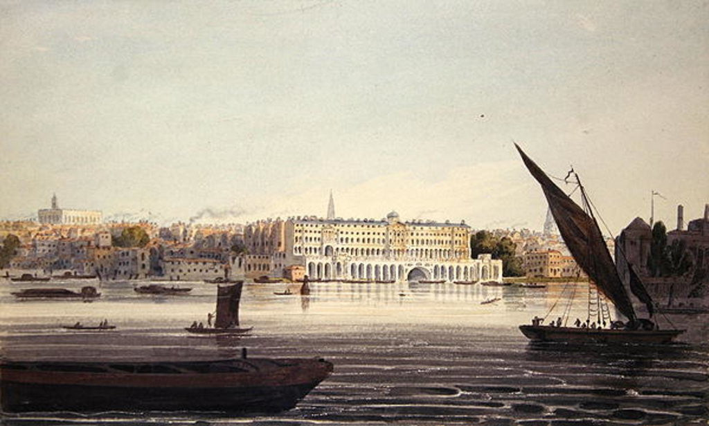 Detail of View of the River Front of New Somerset House by English School