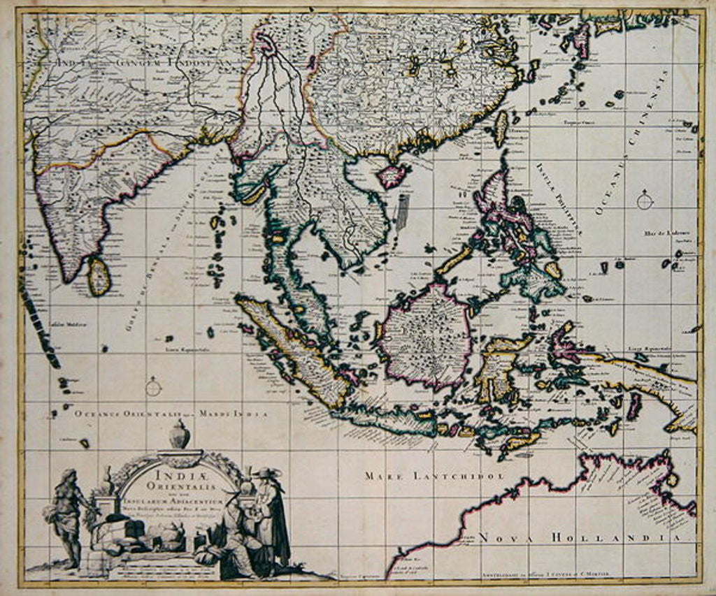 Detail of Map of India and the East Indies by Frederick de Wit