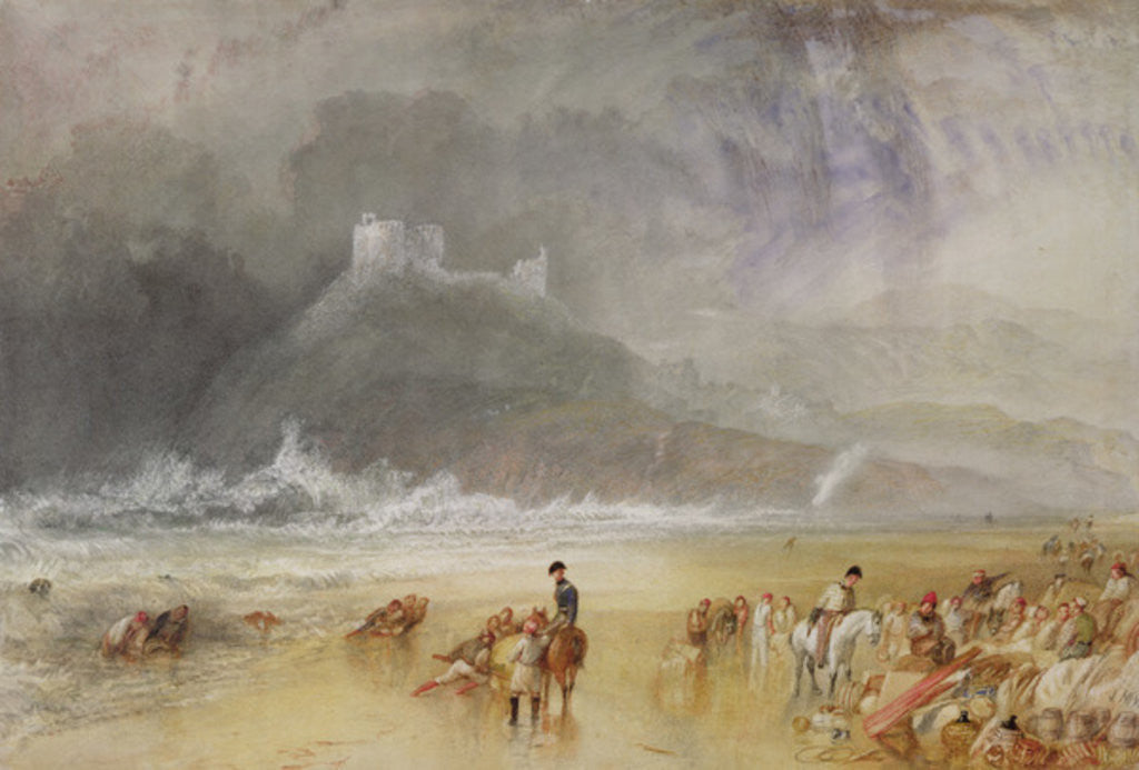 Detail of Criccieth Castle, North Wales, c.1835 by Joseph Mallord William Turner