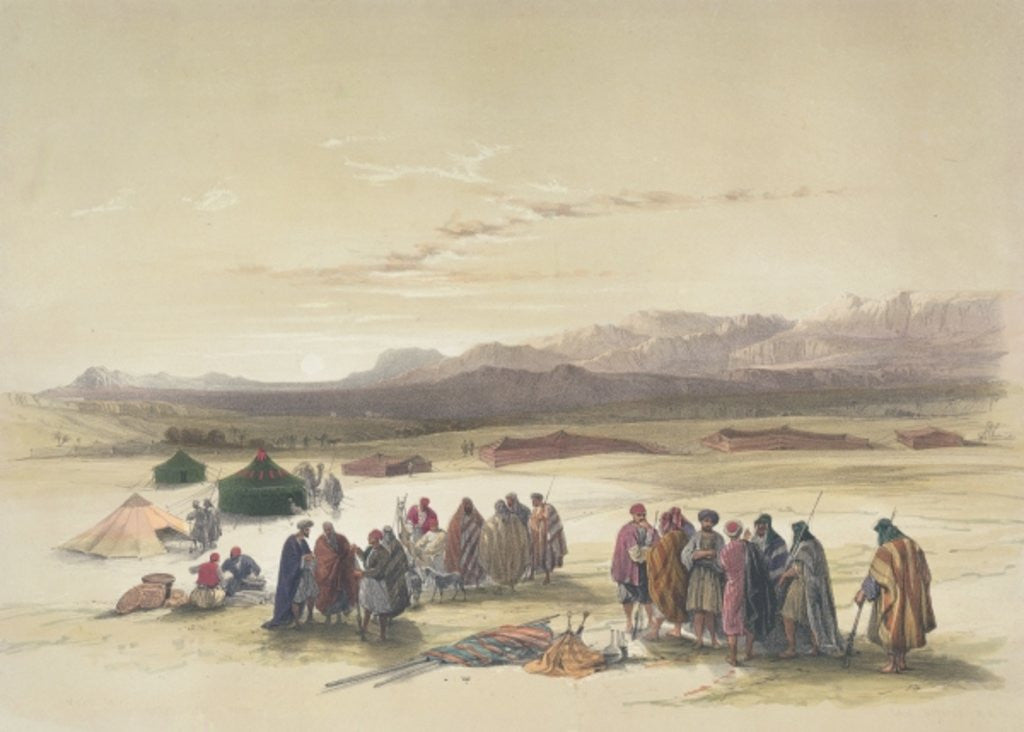 Detail of Encampment of the Alloeen in Wady Araba by David Roberts