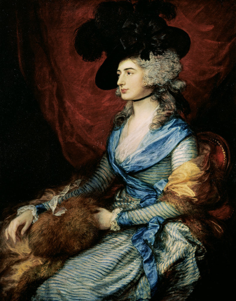 Detail of Mrs Sarah Siddons, the actress by Thomas Gainsborough