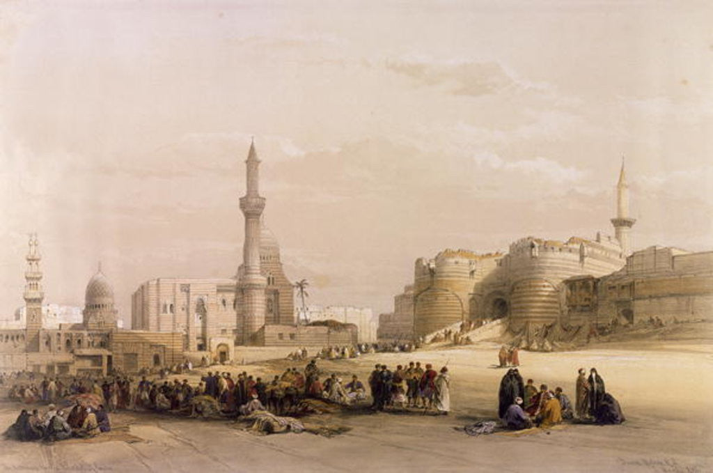 Detail of The Entrance to the Citadel of Cairo by David Roberts