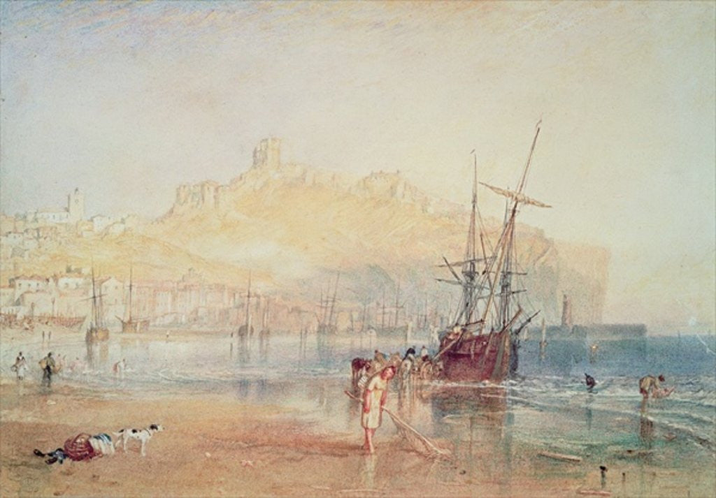 Detail of Scarborough by Joseph Mallord William Turner