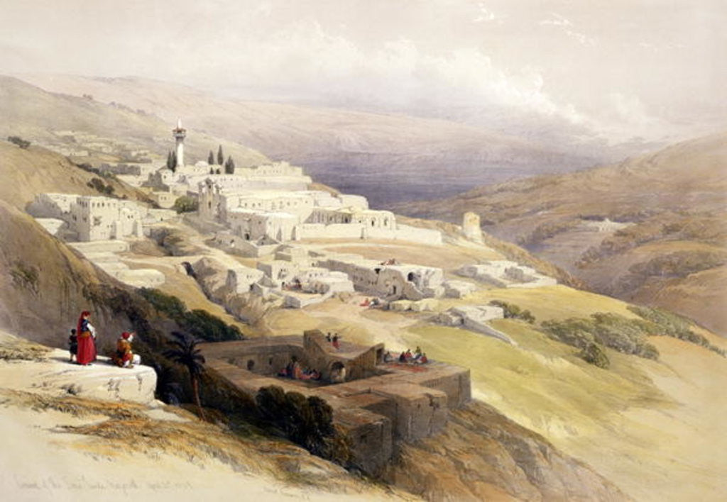 Detail of Convent of the Terra Santa, Nazareth by David Roberts