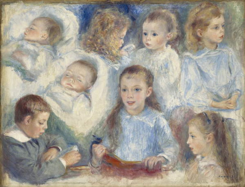 Detail of Studies of Heads, 1881 by Pierre Auguste Renoir