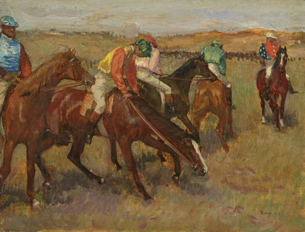 Detail of Before the Race, c.1882 by Edgar Degas