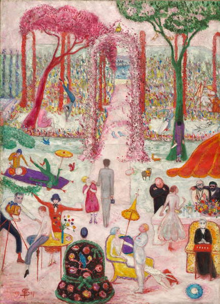 Detail of Sunday Afternoon in the Country, 1917 by Florine Stettheimer