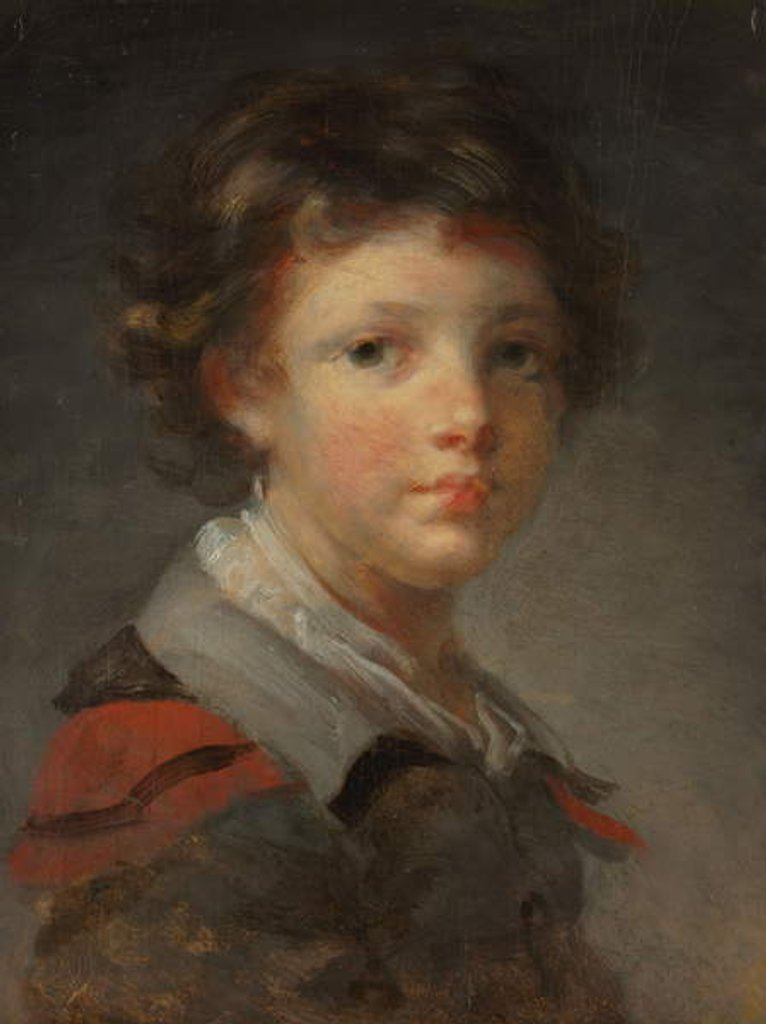 Detail of A Boy in a Red-lined Cloak, 1780s by Jean-Honore Fragonard