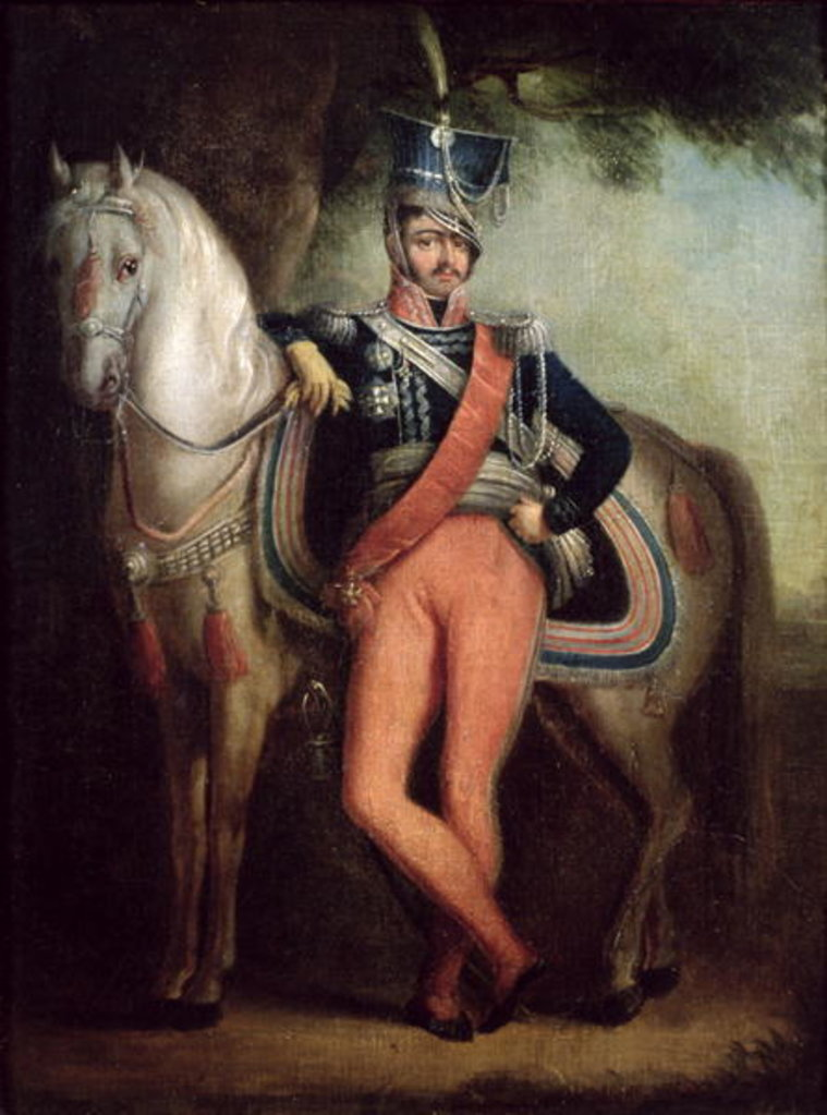 Detail of Prince Josef Anton Poniatowski by his horse, c.1800-13 by Polish School