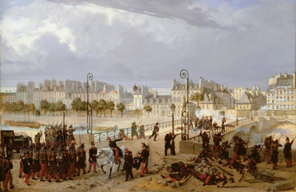 An Attack on a Barricade on the Pont de l'Archeveche