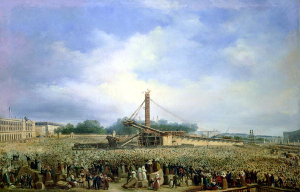 Detail of Erecting the Obelisk from Luxor in the Place de la Concorde by Francois Dubois