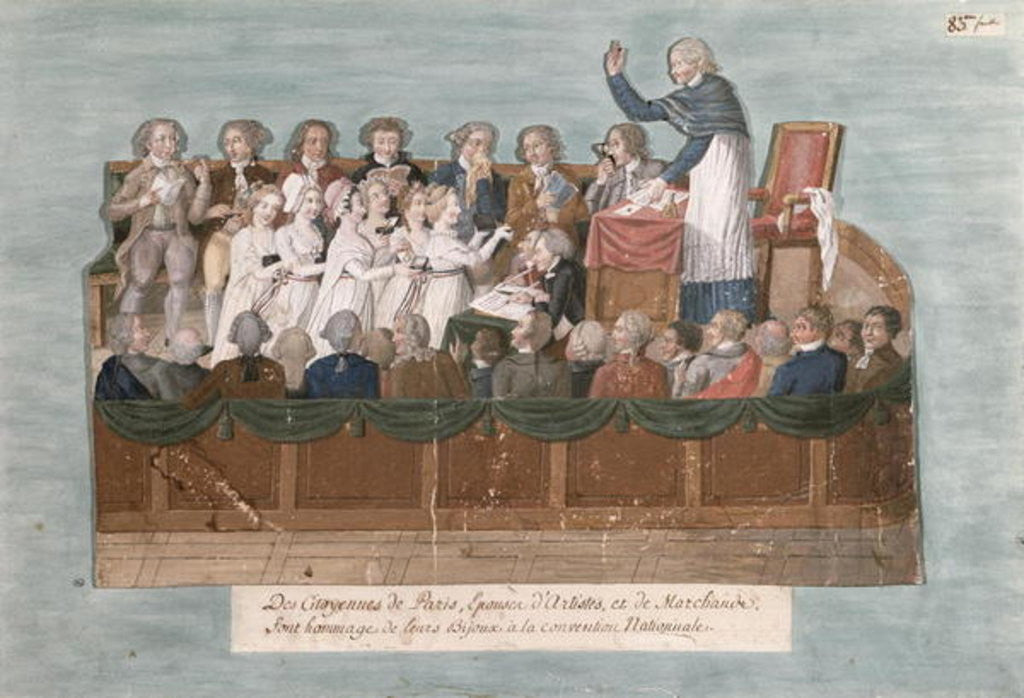 Parisians Offering their Jewellery to the Convention by Lesueur Brothers
