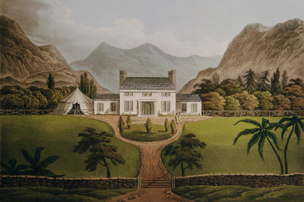 Detail of Bonaparte's Mal-Maison at St. Helena