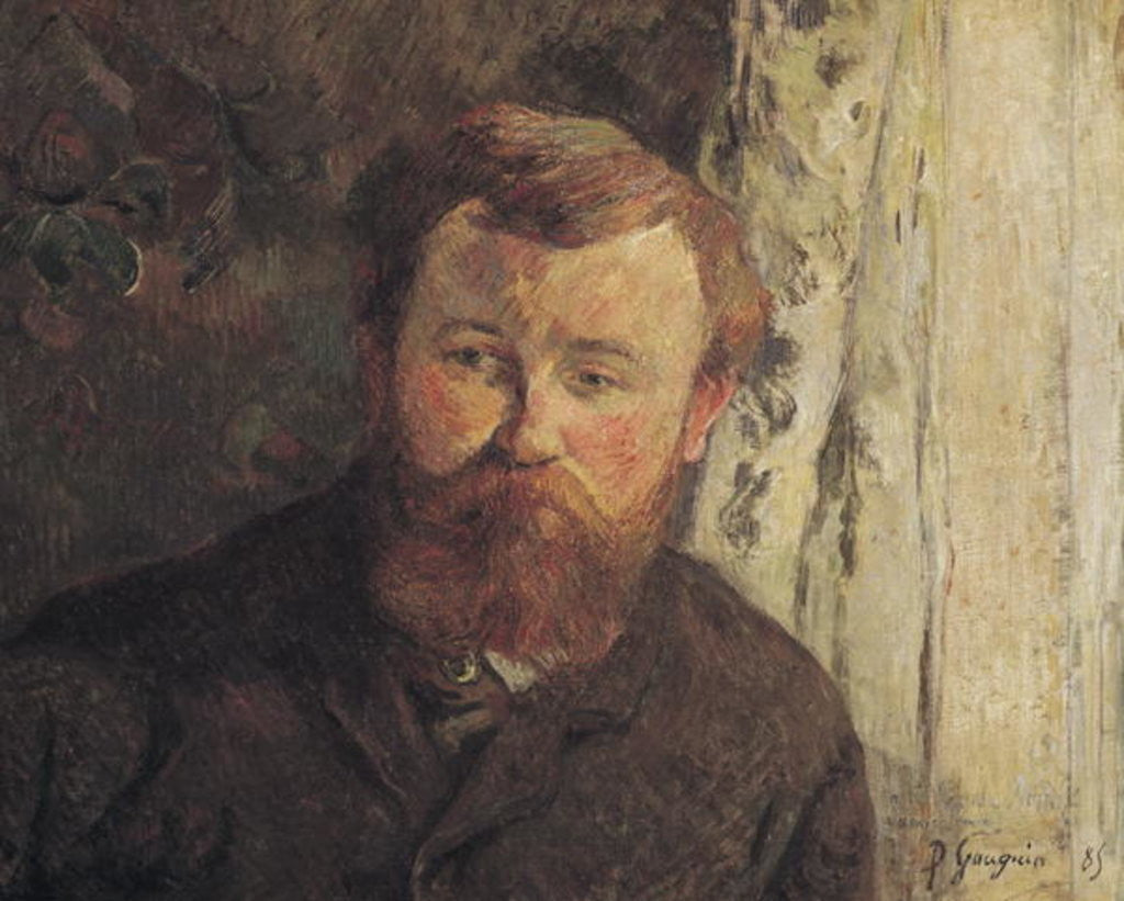 Detail of Portrait of Achille Granchi Taylor by Paul Gauguin