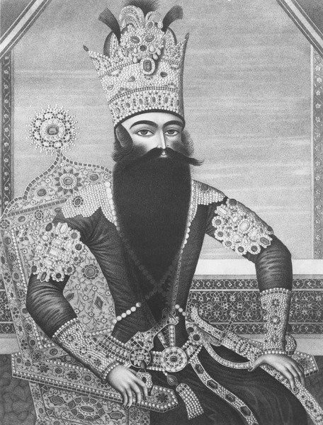 Detail of Fath-Ali Shah Qajar by Louis Charles Ruotte