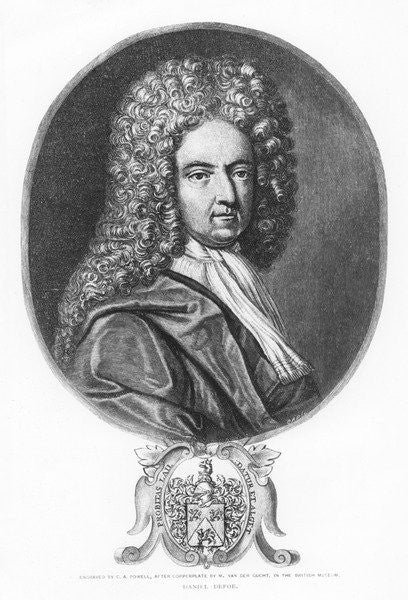 Detail of Daniel Defoe, engraved by C. A. Powell by Michael van der Gucht