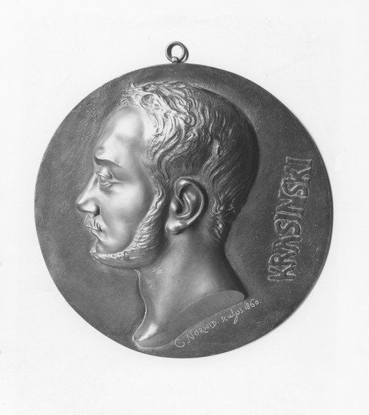 Detail of Medallion of Zygmunt Krasiński by Cyprian Kamil Norwid