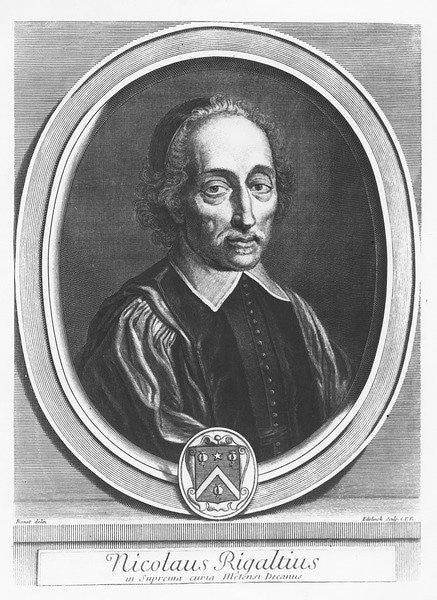 Portrait of Nicolas Rigault by Gerard Edelinck