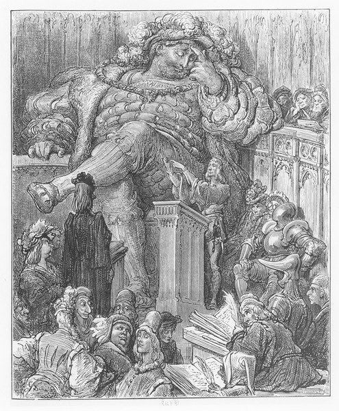 Detail of Illustration from 'Gargantua and Pantagruel', by François Rabelais by Gustave Dore