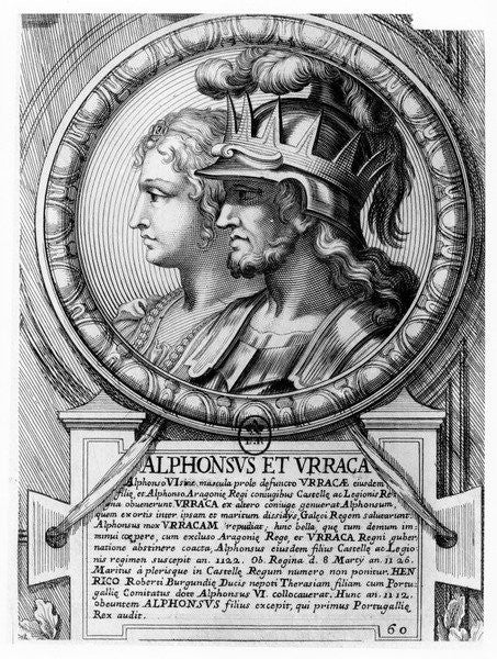 Detail of Alfonso I, the Battler, and Urraca by French School