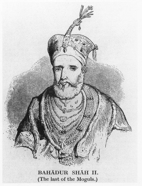 Detail of Bahadur Shah II by English School