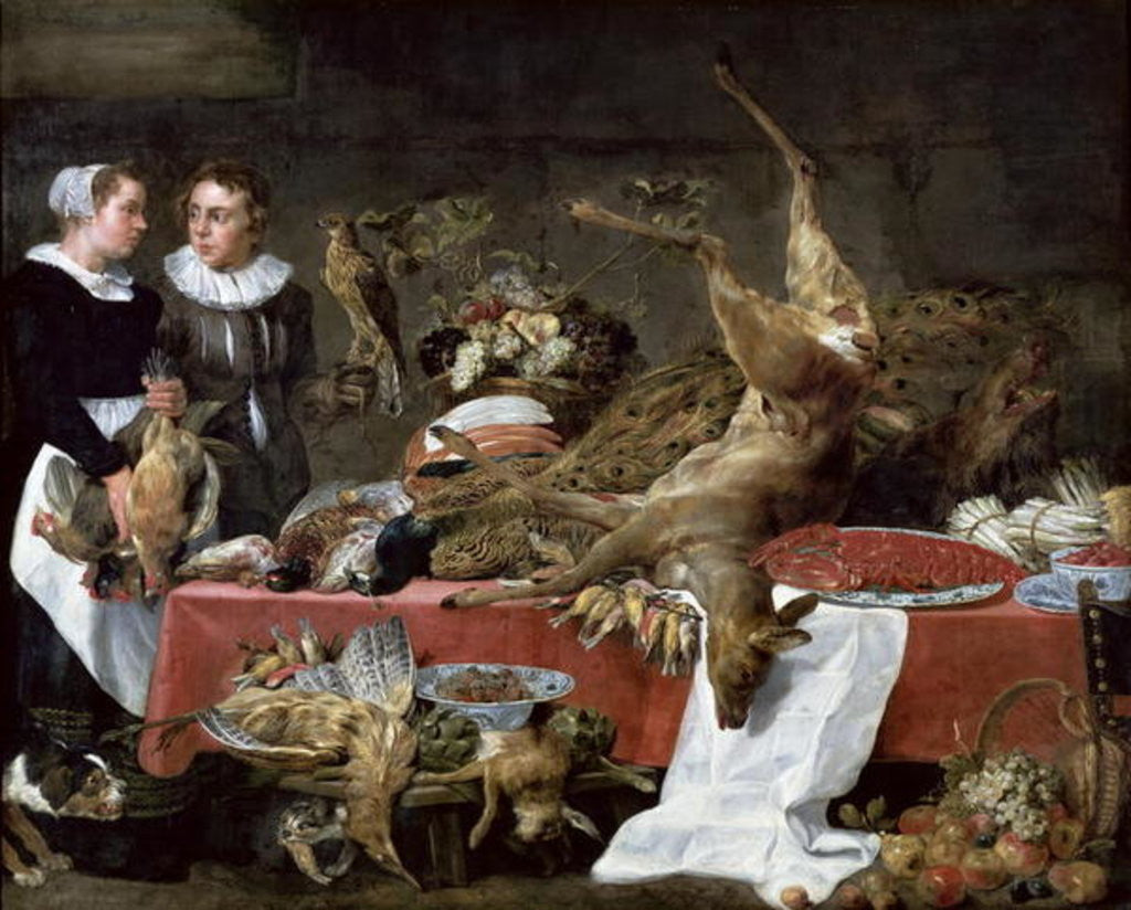 Detail of Le Cellier by Frans Snyders or Snijders