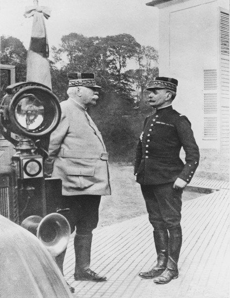 Detail of General Joffre and General Foch by French Photographer