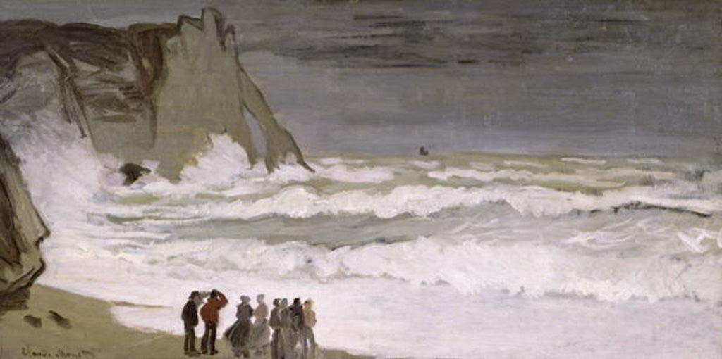 Detail of Rough Sea at Etretat by Claude Monet