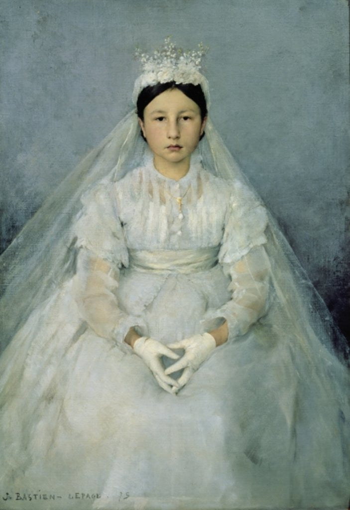 Detail of The Young Communicant by Jules Bastien-Lepage