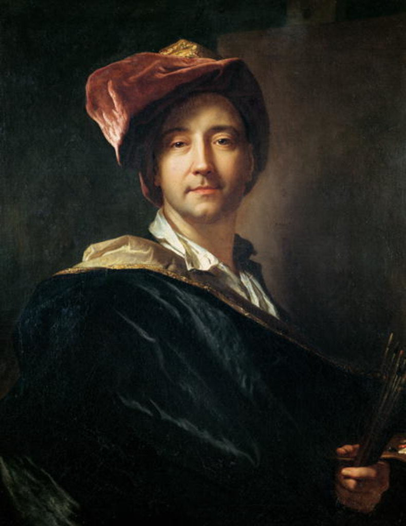 Detail of Self Portrait in a Turban by Hyacinthe Francois Rigaud