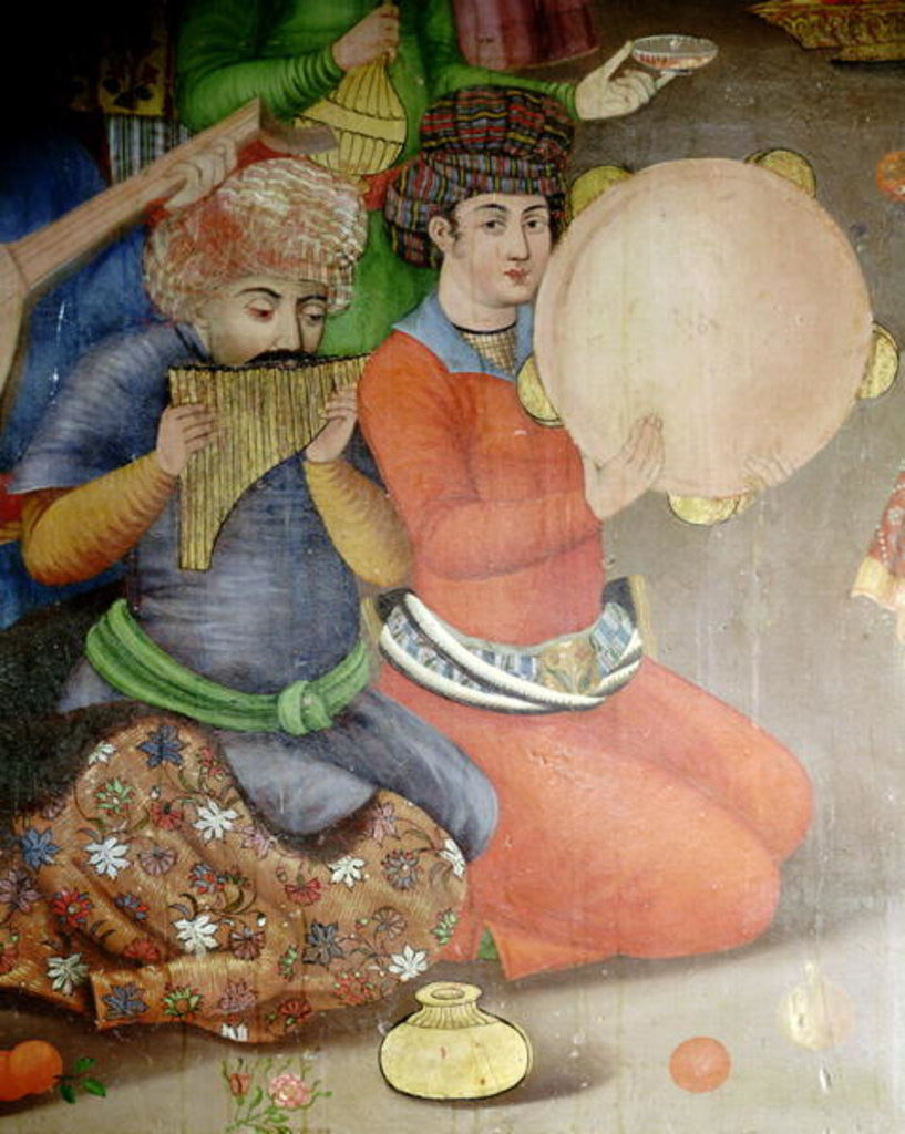 Detail of Detail of the musicians by Islamic School