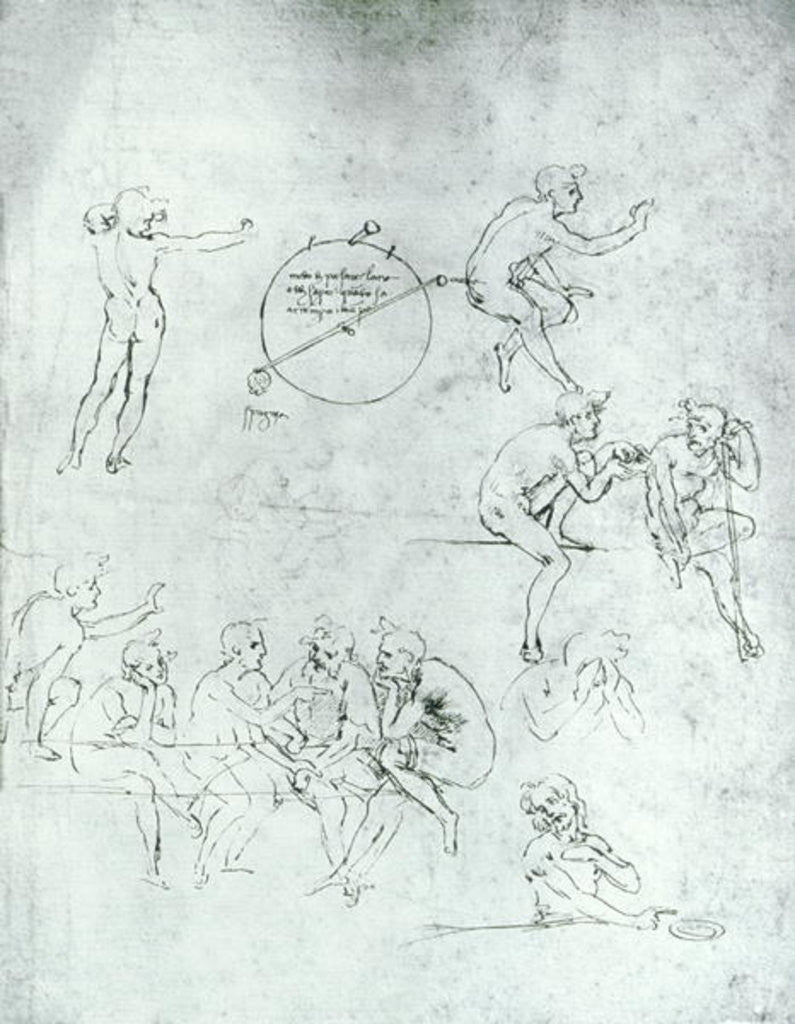 Study of figures for 'The Adoration of the Magi'
