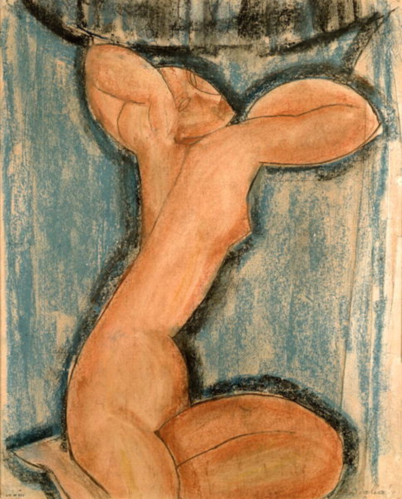 Detail of Caryatid by Amedeo Modigliani