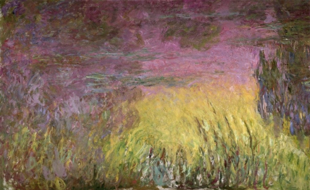 Detail of Waterlilies at Sunset by Claude Monet