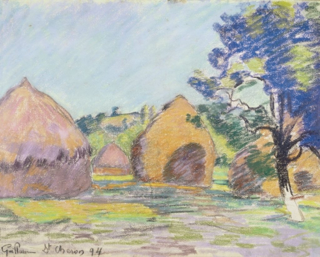 Detail of Haystacks at Saint-Cheron by Jean Baptiste Armand Guillaumin