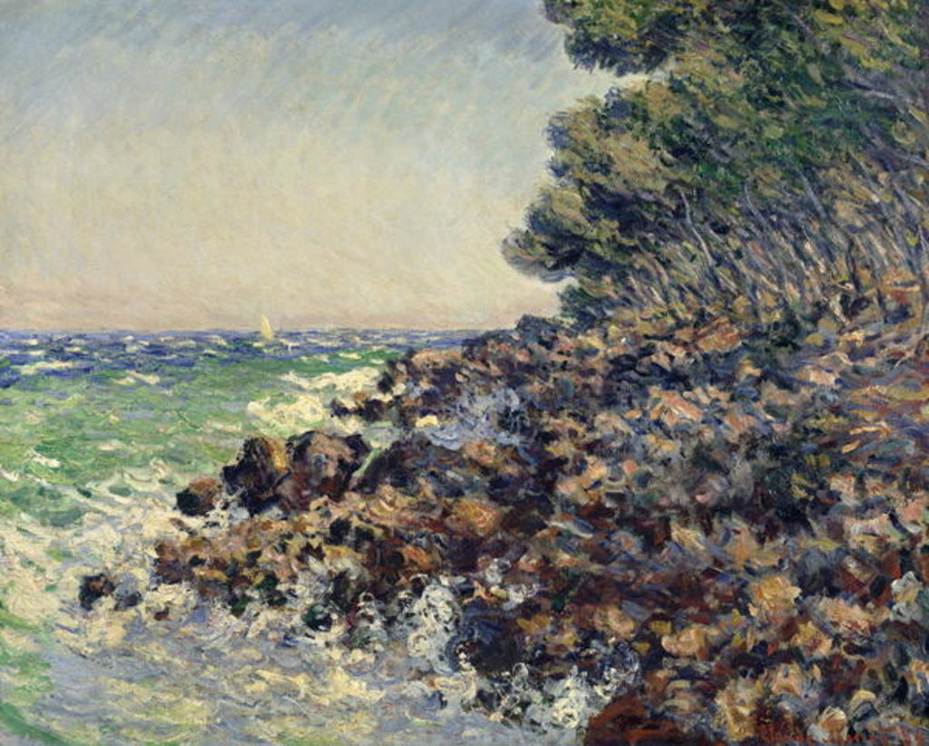 Detail of Cap Martin by Claude Monet
