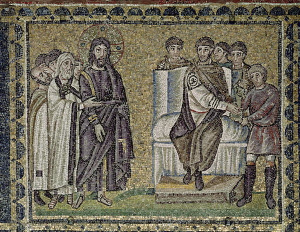 Detail of Jesus before Pontius Pilate by Byzantine School