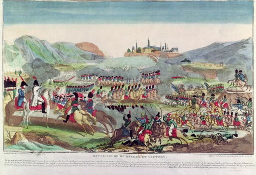 Detail of Battles of Wurtchen and Bautzen by French School