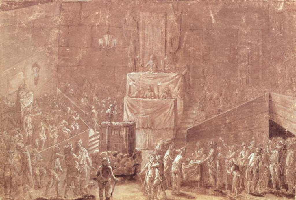 Detail of Jacobin Club During the Revolution by French School