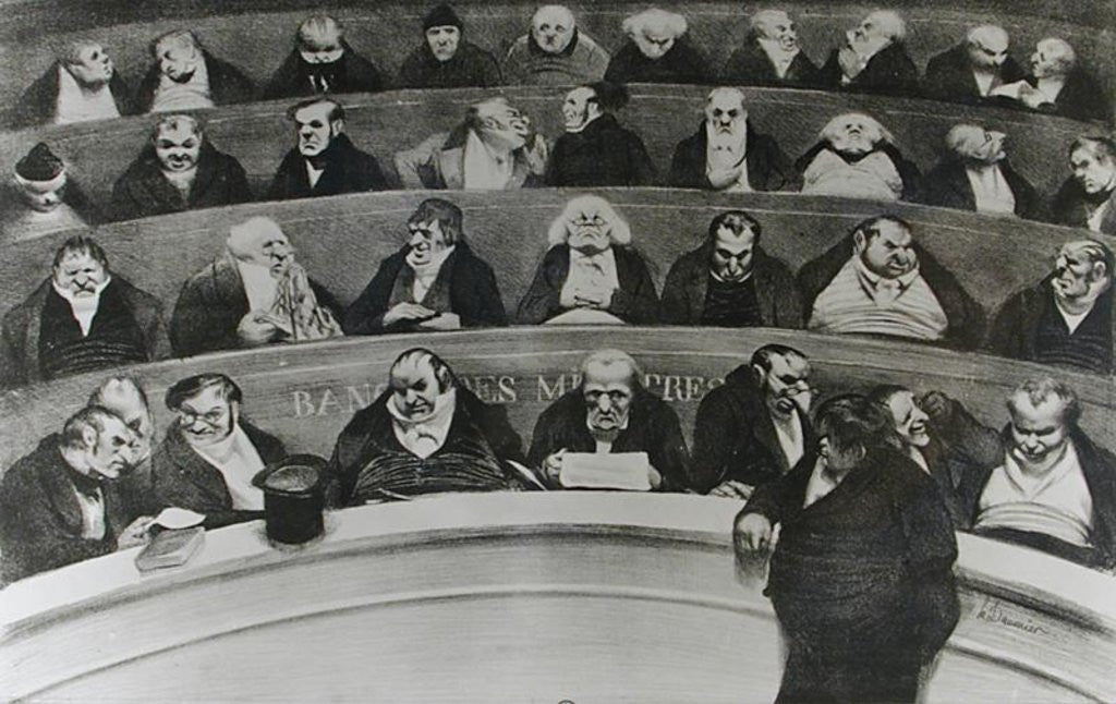 Detail of The Stomach of the Legislature, the Ministerial Benches of 1834 by Honore Daumier