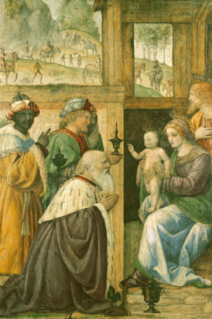 Detail of Adoration of the Magi by Bernardino Luini