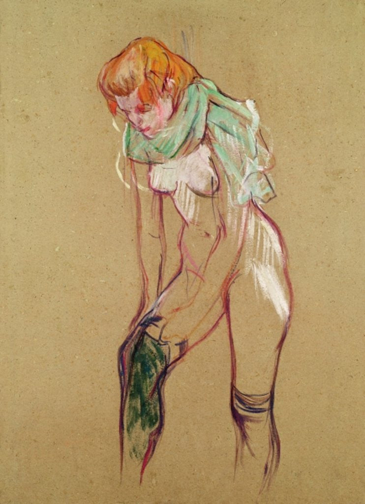 Detail of Woman Pulling Up her Stocking by Henri de Toulouse-Lautrec