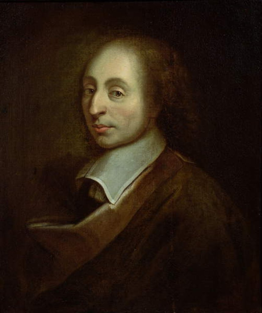 Detail of Blaise Pascal c.1691 by Francois the Younger (after) Quesnel