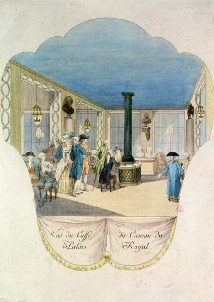 Cafe in the cellar of the Palais-Royal